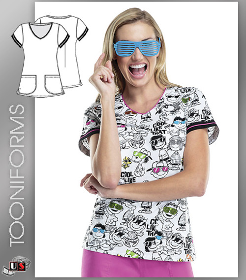 Cherokee Tooniforms Cool Like That V-Neck Top