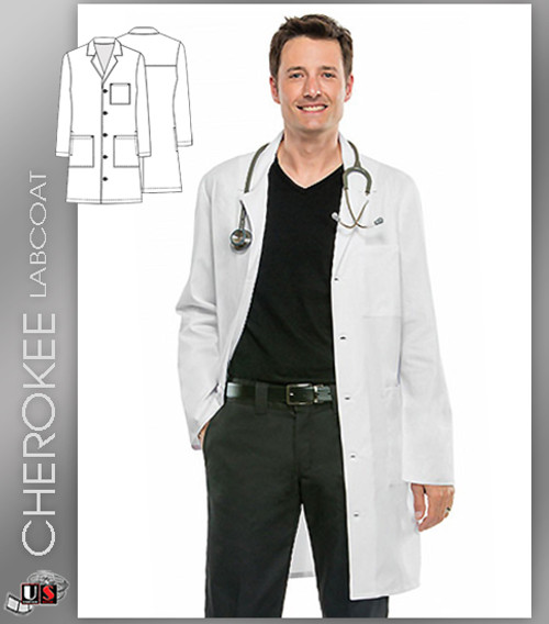 "CHEROKEE Next Generation 38"" Unisex Lab Coat"