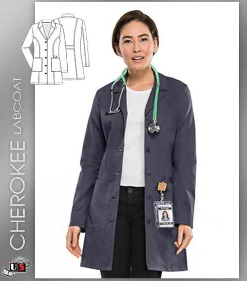 "CHEROKEE Next Generation 33"" Women's Lab Coat"