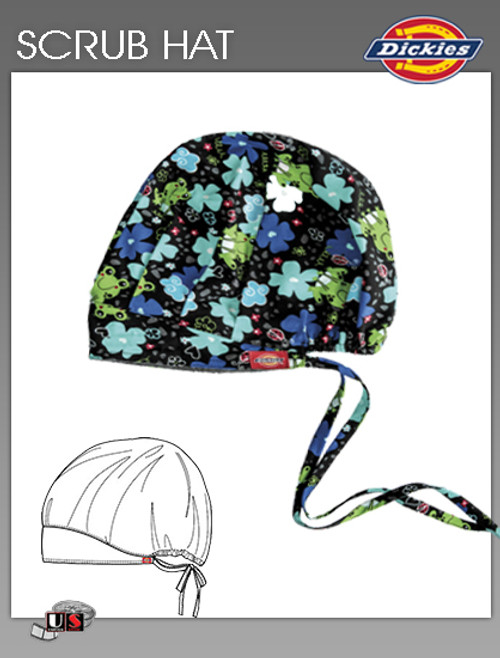 Dickies Printed Froggy Floral Scrub Hat