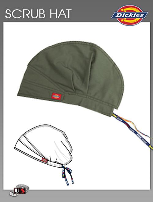 Dickies Unisex Adjustable Dickies Logo Twill Tape Scrub Hat - Olive
