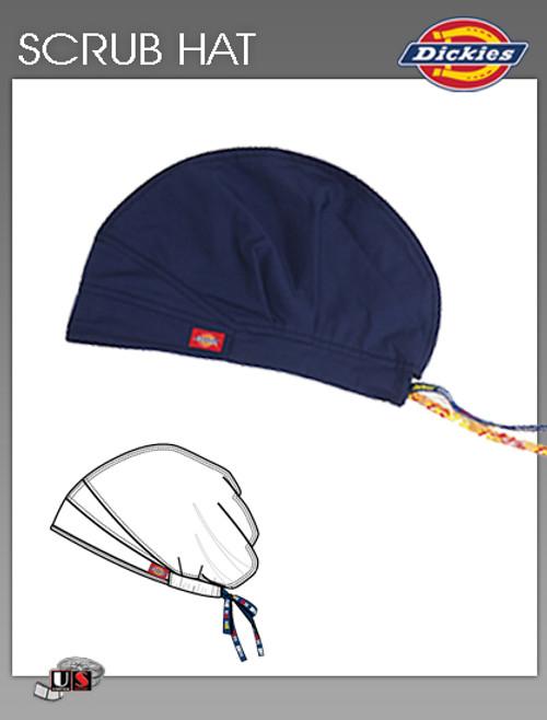 Dickies Unisex Adjustable Dickies Logo Twill Tape Scrub Hat - Navy
