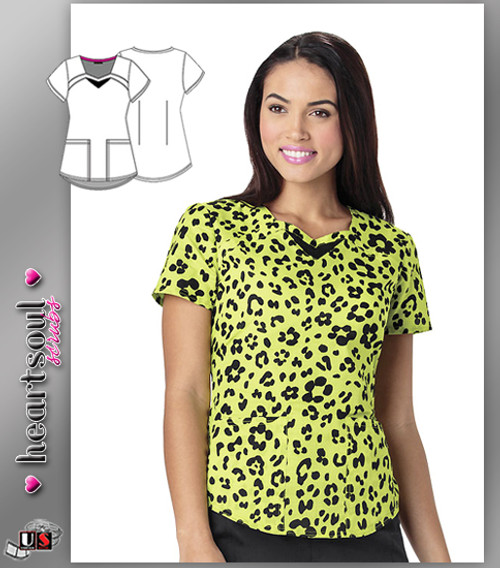 Heartsoul Women's Wild You Were Out Sunny Lime Sweetheart Neck Top