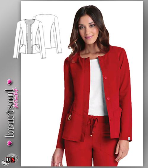 """Heartsoul Women's """"Warm My Heart"""" Button Front Jacket"""