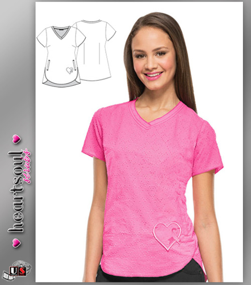 "HeartSoul Women's ""Girls Love Pink"" V-Neck Top - Pink"