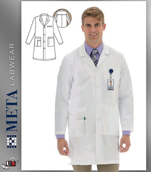 """799 Meta Men's 38"""" Stretch iPad® Labcoat"""