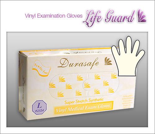 DURASAFE Examination Vinyl Gloves - Super Stretch - 100 Gloves / Box