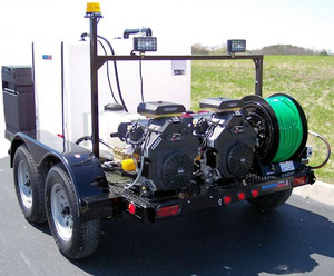 51T Series Trailer Jetter 2030 - 54 HP, 20 GPM, 3000 PSI, 330 Gallon