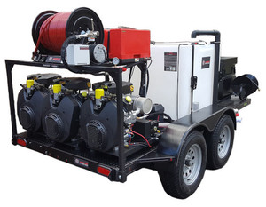 51T Series Trailer Jetter 1850 - 97.5 HP, 18 GPM, 5000 PSI, 330 Gallon