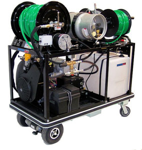 Electric Platform Cart 1138 Propane - 37 HP, 11 GPM, 3800 PSI, 30 Gallon