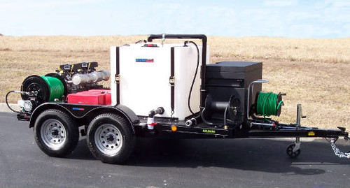 51T Series Trailer Jetter 650 - 32.5 HP, 6 GPM, 5000 PSI, 330 Gallon