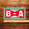 """BA Bowtie Service Products 6"""" x 12"""" Pump Decal"""