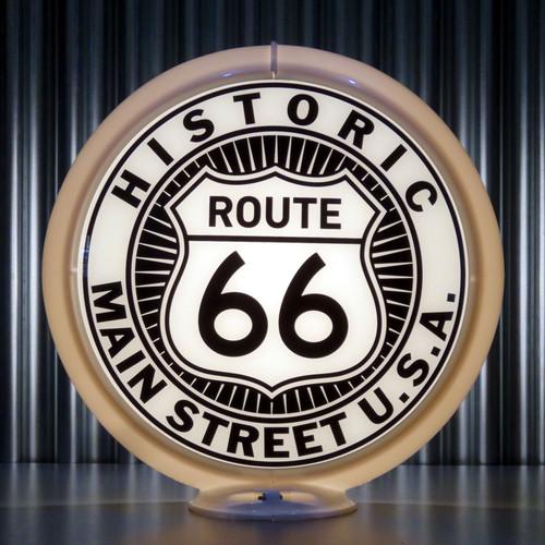 """Route 66 - 13.5"""" Gas Pump Globe"""