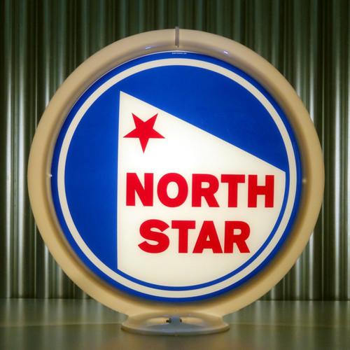 "North Star (Late) Gasoline - 13.5"" Gas Pump Globe"