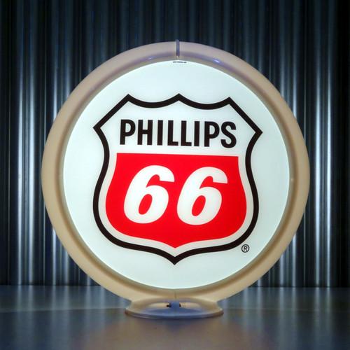 """Phillips 66 Gasoline - 13.5"""" Gas Pump Globe"""