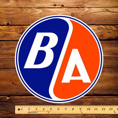 """BA / Gulf Round 12"""" Pump Decal"""