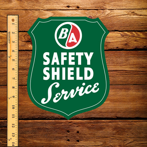 "BA Safety Service Shield Service 9"" x 11"" Decal"