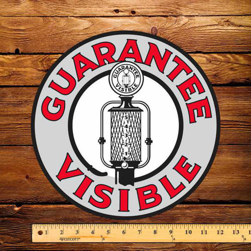 "Guarantee Visible (FRY) 12"" Pump Decal"