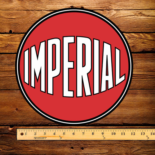 "Esso Imperial Red Ball 12"" Pump Decal"