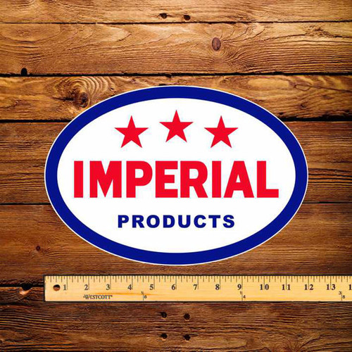 "Esso Imperial 3 Star Products 8"" x 12"" Pump Decal"