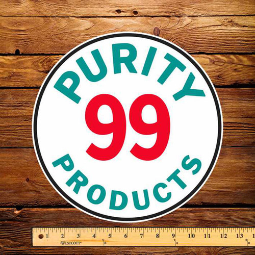 """Purity 99 Products 12"""" Pump Decal"""