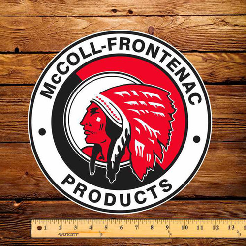 """Red Indian (Round) 12"""" Pump Decal"""