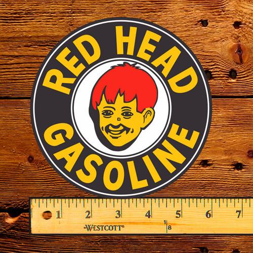 "Red Head Gasoline 6"" Vinyl Decal"