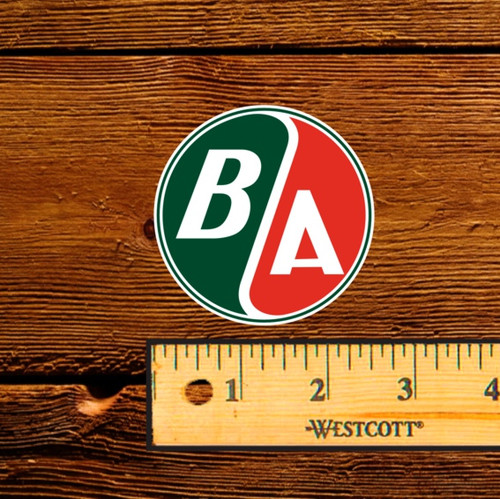 BA Round Logo Oil Bottle Decal