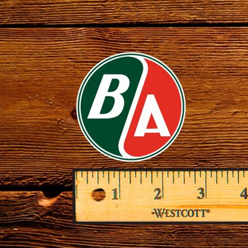 BA Round Logo Oil Bottle Decal