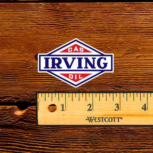 "Irving - 2.5"" Oil Bottle Decal"