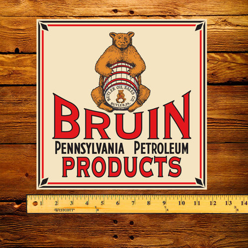 "Bruin Pennsylvania Petroleum Products 12"" Pump Decal"
