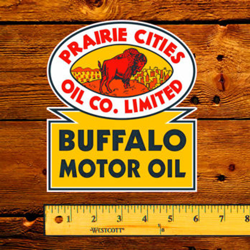 Prairie Cities Oil Co Limited Buffalo Motor Oil Decal