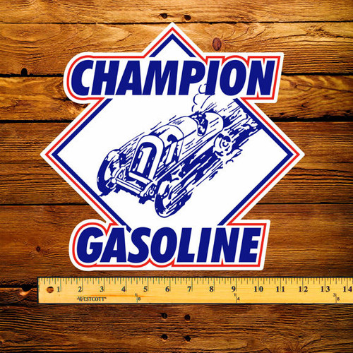 "Champion Gasoline 12"" Pump Decal"