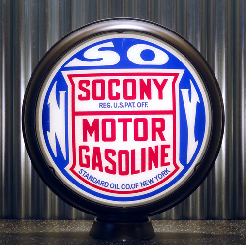 "SOCONY Motor Gasoline Standard Oil of New York 15"" Lenses"