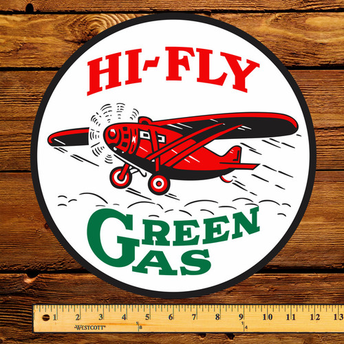 """Hi-Fly Green Gas 12"""" Gas Pump Decal"""