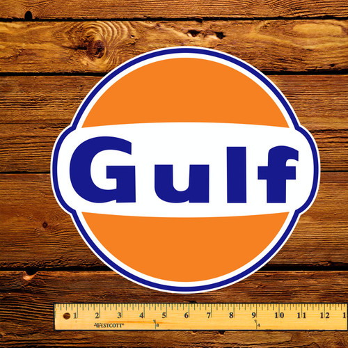 "Gulf Gasoline 12"" Gas Pump Decal"