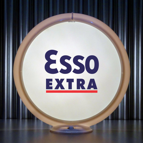 "ESSO Extra Gasoline - 13.5"" Gas Pump Lenses"