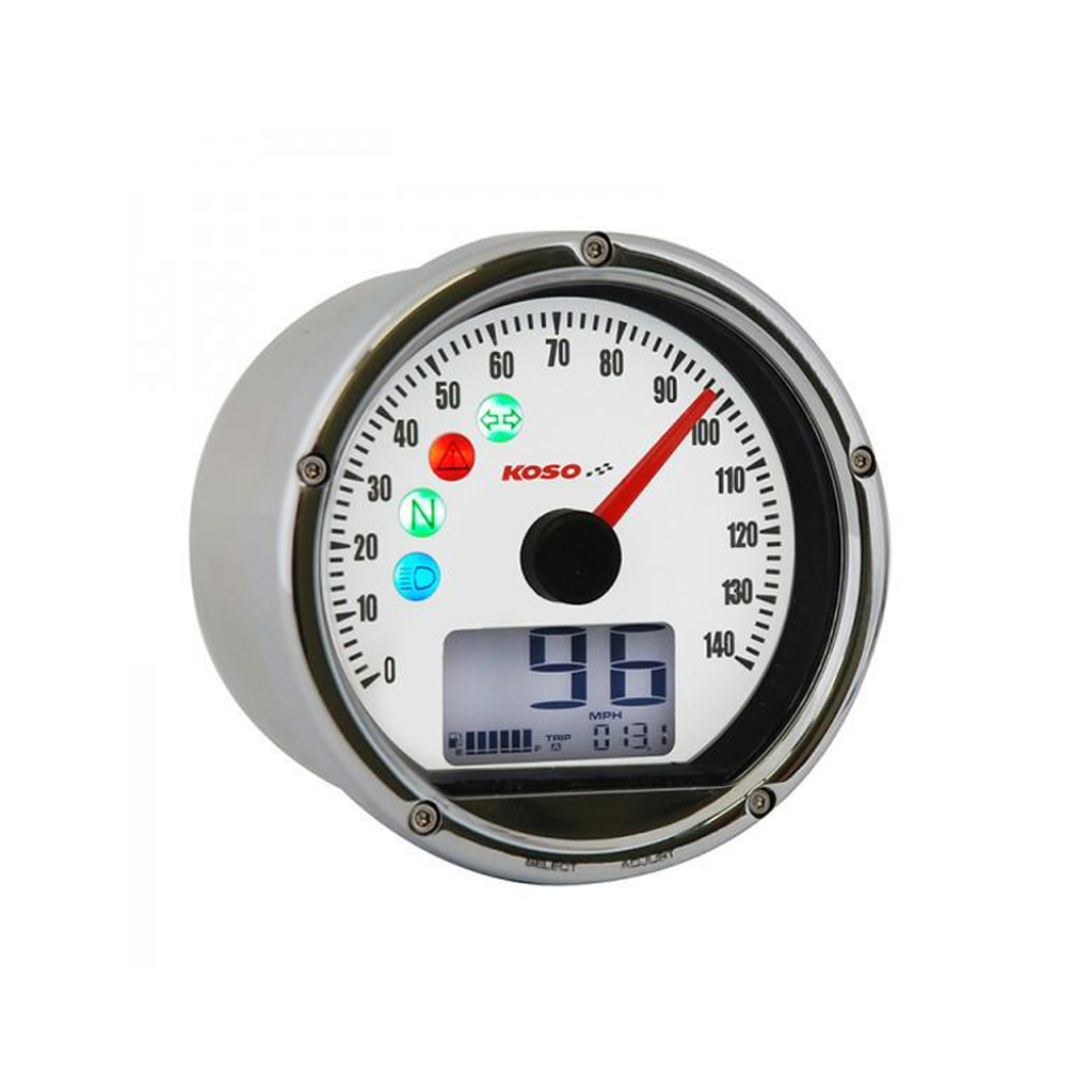 Koso TNT-01S Speedometer - Chrome