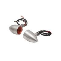 Motone Billet Turn Signals - Silver