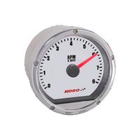 Koso Mini Tachometer - Silver