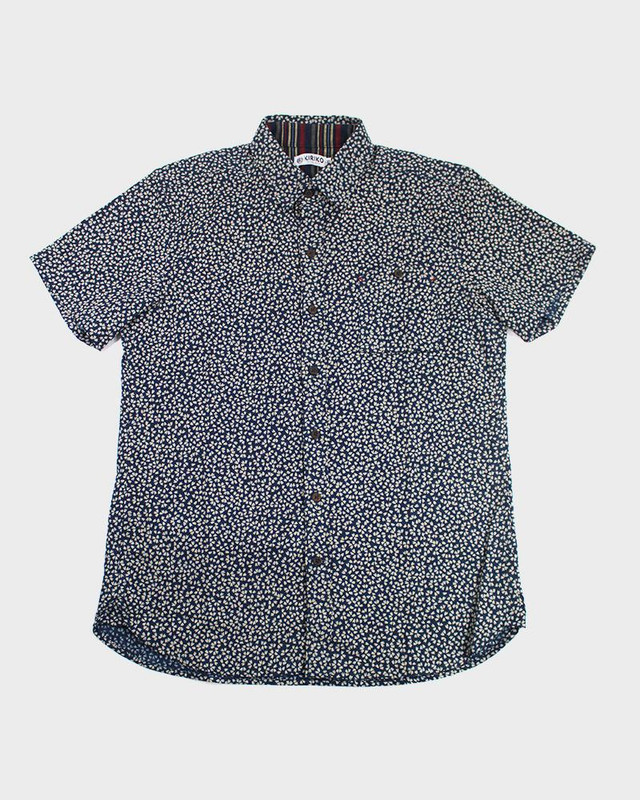 Short Sleeve Button-Up,  Sakura