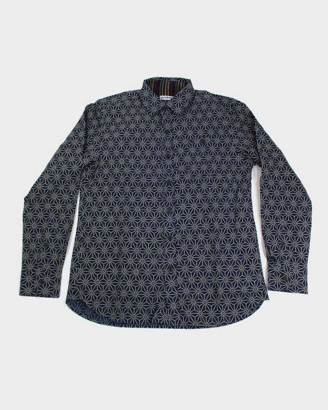 Long Sleeve Button-Up, Asanoha