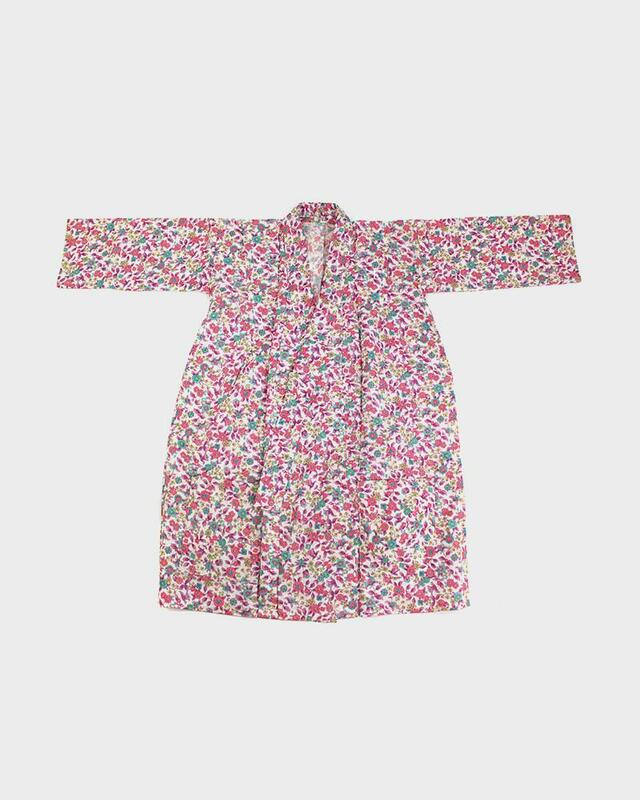 Modern Cut Kimono Haori Jacket, Bright Floral