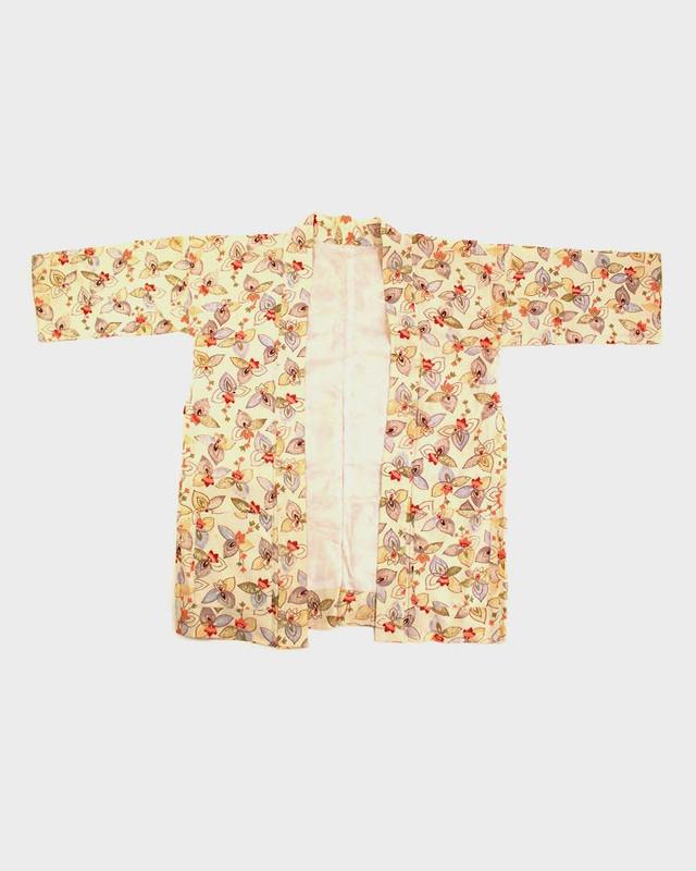Modern Cut Kimono Haori Jacket, Colorful Floral