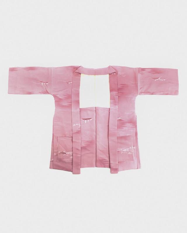 Modern Cut Haori Jacket, Pink Boats
