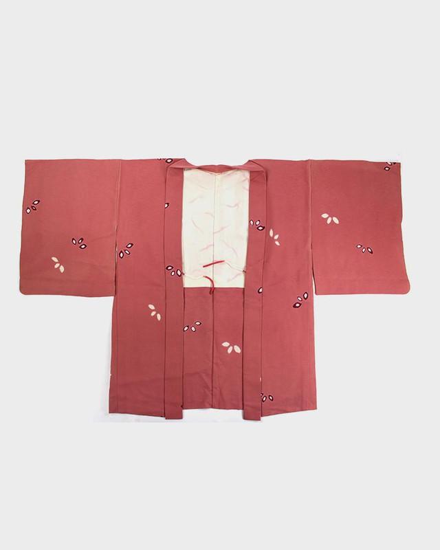 Vintage Kimono Haori Jacket, Flower Petals