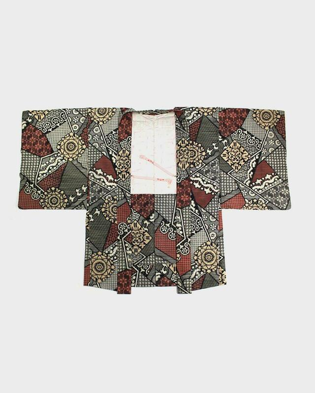 Vintage Kimono Haori Jacket, Multi Pattern