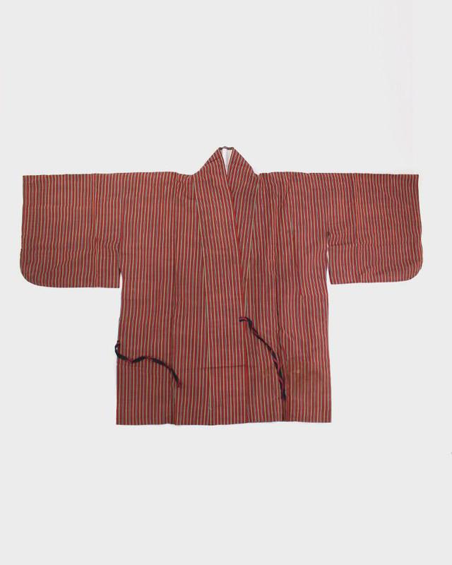Vintage Kimono Dochugi Jacket, Stripes