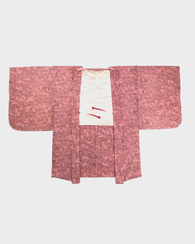 Vintage Kimono Haori Jacket, Chou Cho
