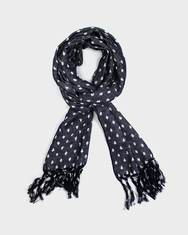 Karu-Ori Scarf, Grey with White Dots